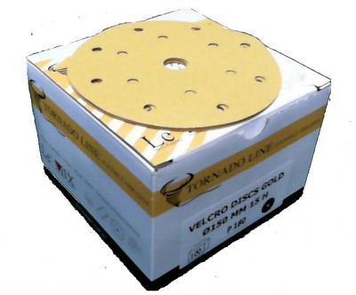 Tornado Velcro Discs 150mm 15 Holes 100Pk