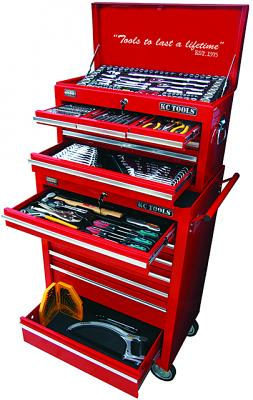 220 Piece Combination Box & Roll Cabinet Tool Kit