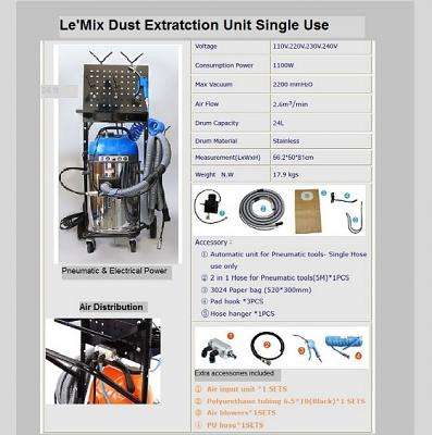 Le'Mix Dust Extraction Vacuum Single Use