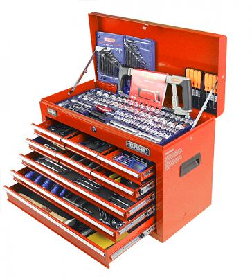 245 Piece Tool Kit In 9 Drawer Tool Box