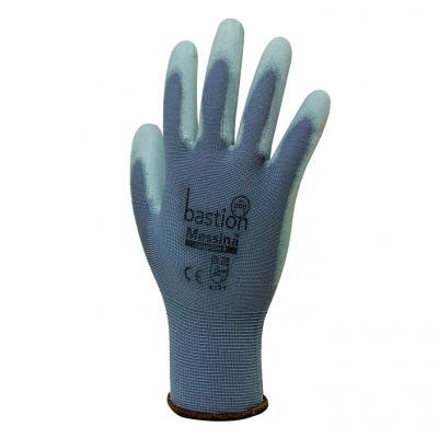 Messina - Grey Nylon Glove Polyurethane Coating sold 12 pac