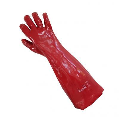 PVC Red Gloves - 45cm Length