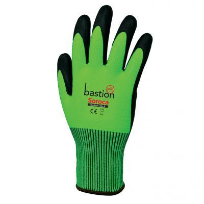 High Vis Green HPPE Gloves | Soroca - Black Micro Foam 12 PAC