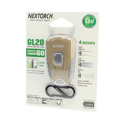 Nextorch Keychain Light Laser: Khaki