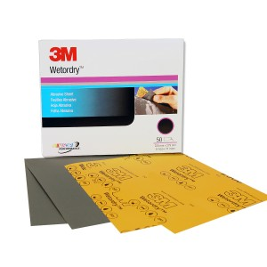 """3M Imperial Wetordry Sheet, 5-1/2"""" x 9"""", 1500 grit, Micro-Fine"""