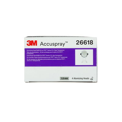3M Accuspray Atomizing Head Refill Pack for 3M PPS Series 2.0 clear 1.8 mm 4 nozzles per pack