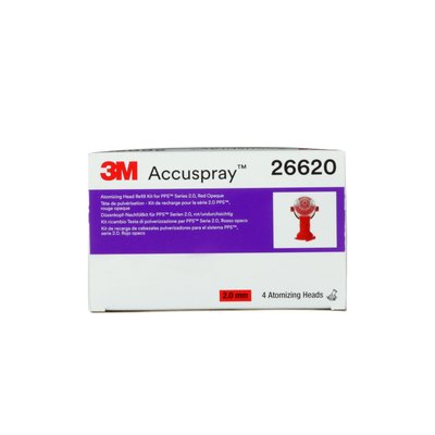 3M Accuspray Atomizing Head Refill Pack for 3M PPS Series 2.0 red 2.0 mm, 4 nozzle per pack