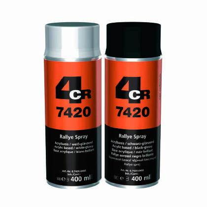 4CR 7420 Rallye Spray Matt Black – 400ml