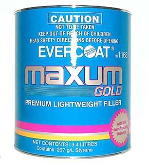 Evercoat Maxum Gold Filler 3.4lt