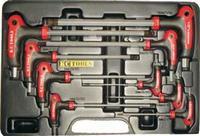 9 PC T Handle Hex Key Set