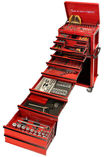 523 Piece Combination Box & Roll Cabinet Tool Kit