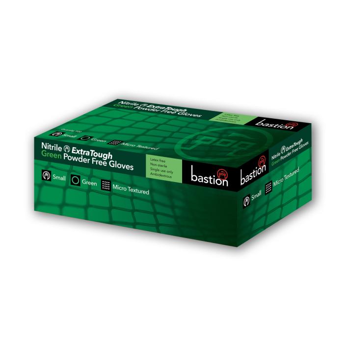 Nitrile ExtraTough Green Powder Free Gloves 10 Boxes