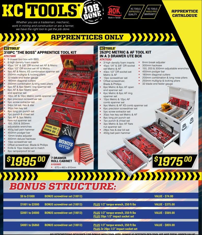 KC Tools Apprentices Special