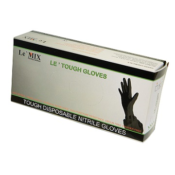 Le'Mix Le Tough Black Nitrile Gloves