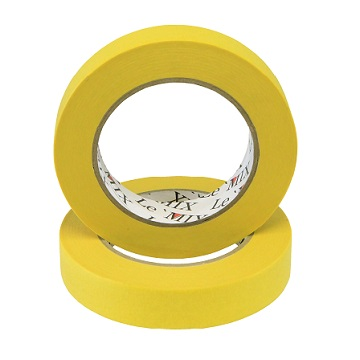 Le'mix Masking Tape - Yellow Water Proof 18MM-24MM-36MM-48MM