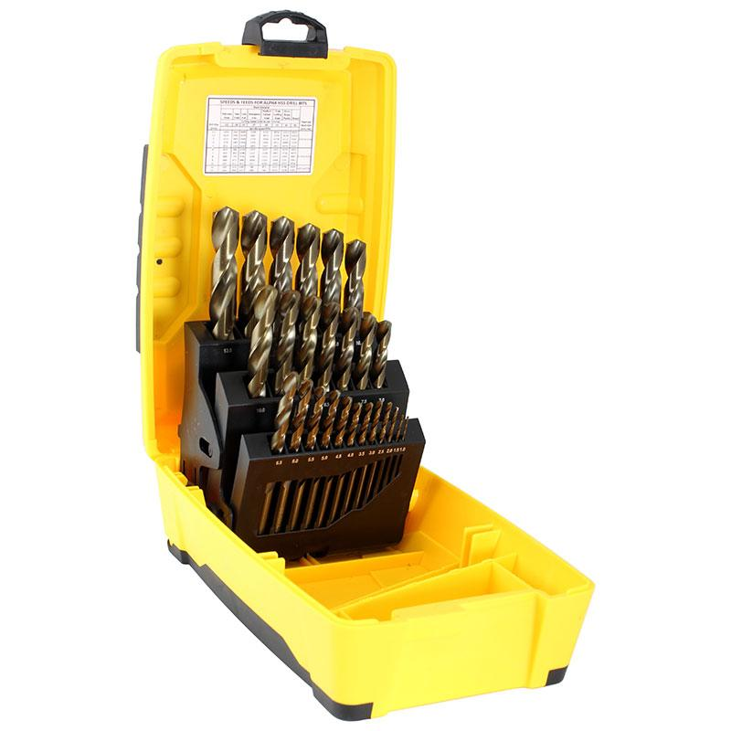 25pce Metric Alpha Tuffbox Cobalt Drill Set 1.0-13.0mm