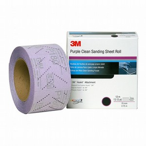 3M™ Hookit™ Purple Clean Sand Sheet Rolls 70MM Width Roll 12MT