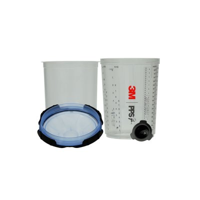 3M PPS Series 2.0 Spray Cup System Kit Large (850 mL), 125u Micron Filter