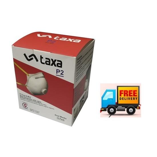 Taxa P2V Valve/Conical Dust Mask Pkt12