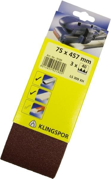 Klingspor Abrasive Cloth Belt LS 309 XH DIY