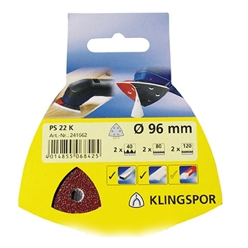 Klingspor Abrasives Self-Fastening 96mm DIY
