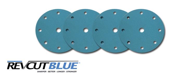 Revcut Blue Velcro Sanding discs 150MM 7H