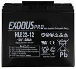Cranking Battery 12V-22Ah Exodus Professional Battery
