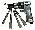 Heavy Duty Air Hammer + 4 Piece Chisel